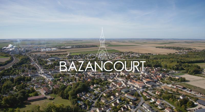 Bazancourt vue aérienne