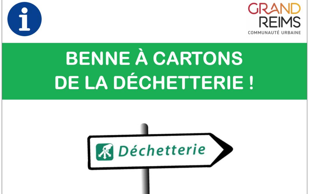 INACCESSIBILITÉ DE LA BENNE À CARTONS