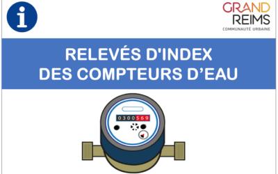 RELEVÉS D'INDEX DES COMPTEURS D'EAU 💦